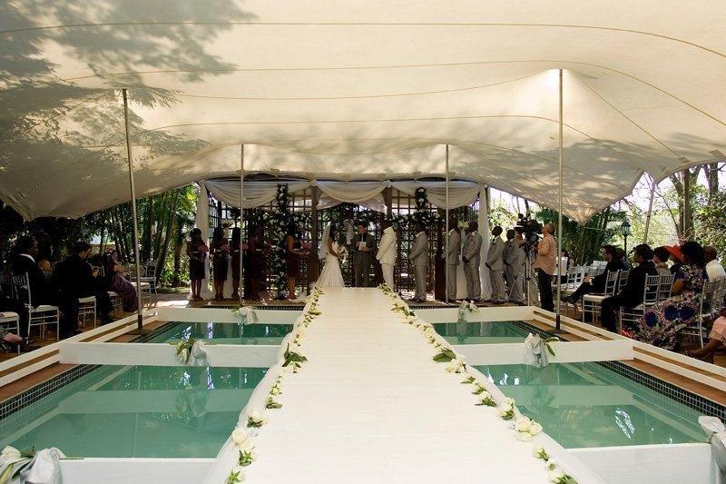 Remarkable Stretch Tent Set Up for a Wedding by Avalon Event Rentals