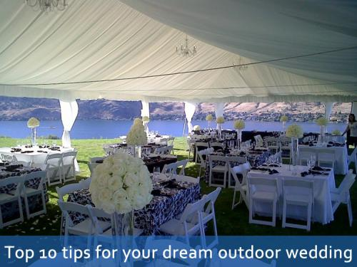 Top 10 Tips For Your Dream Outdoor Wedding