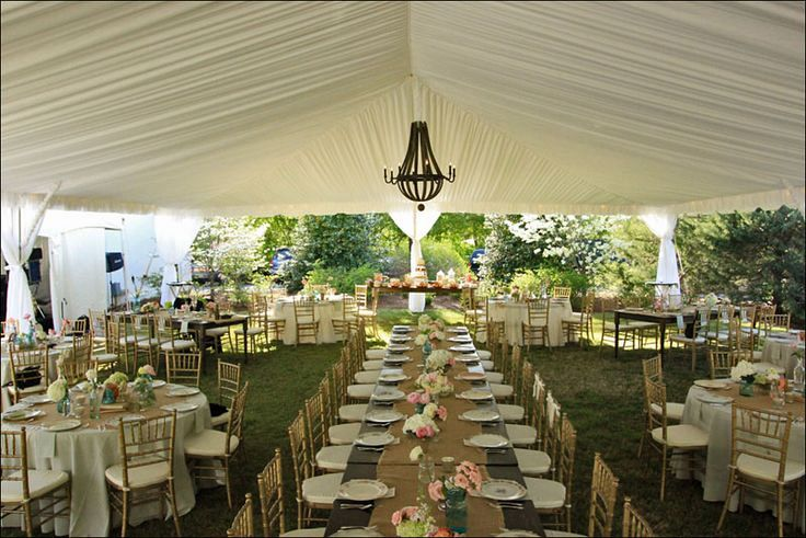 Tent rental accessories kelowna bc avalon event rentals for Wedding tent layout